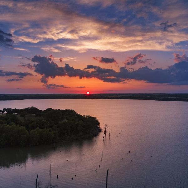 Lake Waco at sunset