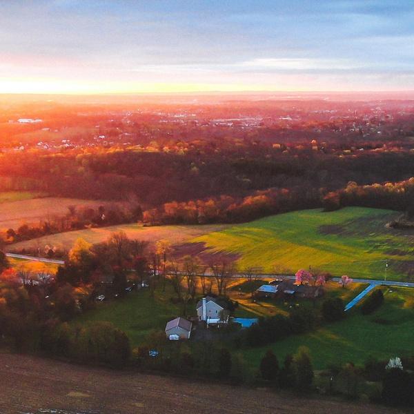 Sunset over Perkiomenville