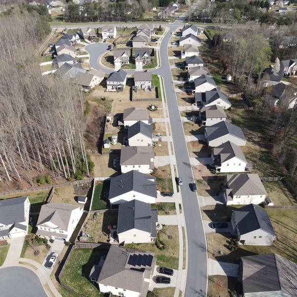 High above neighborhood
