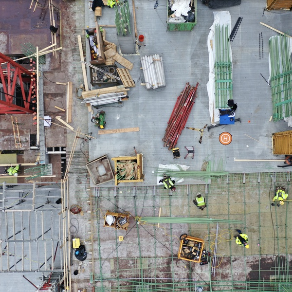 Mapping Prior to Concrete Pour.