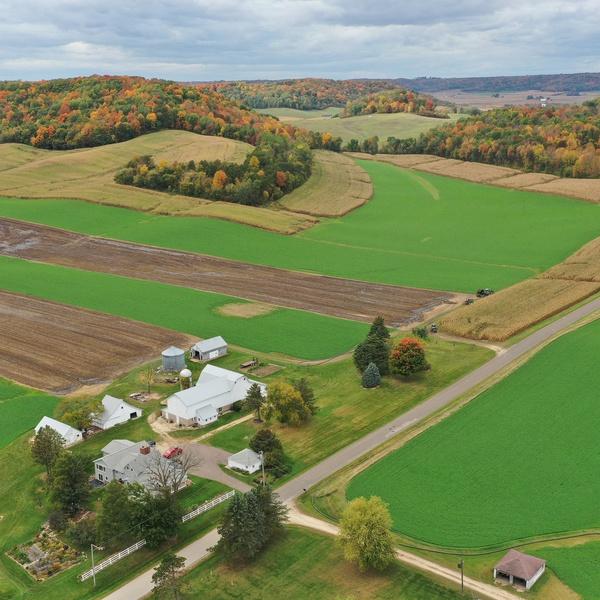 Farm House with fields