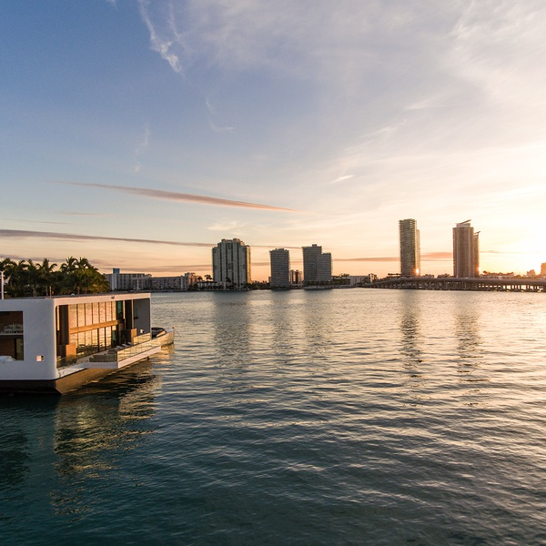 Drone Photography - Floating House Concept, South Beach, Florida