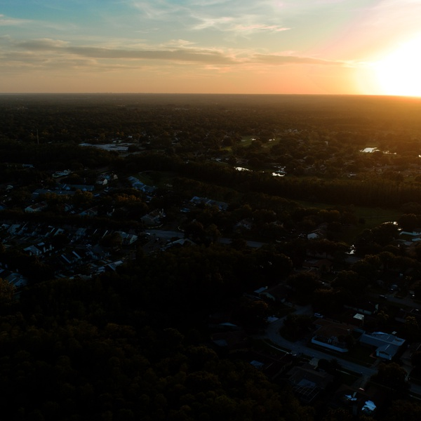 Sunset At Northdale Florida
