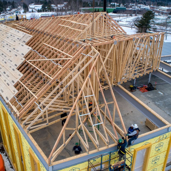 Quite a roof truss system