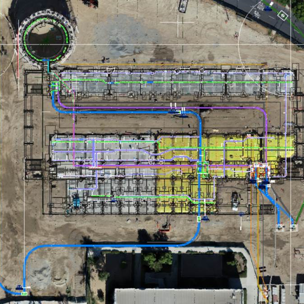 Map of Construction Site (with Ground Control Points)