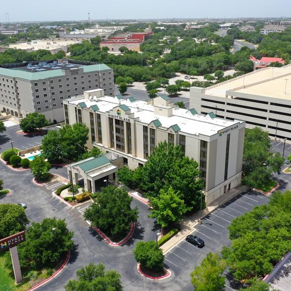 Hyatt Hotels aerial photo shoot Austin, TX