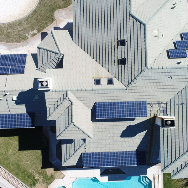 Solar panels and roof inspection