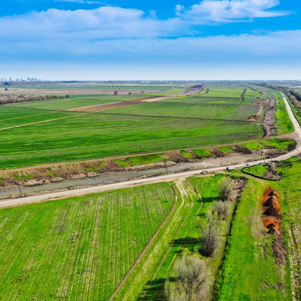 Farm by the flood bypass extension