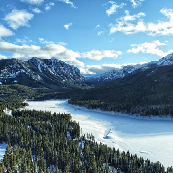 Hyalite Reservoir, Gallatin County, Montana