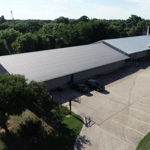 Aerial Shot - Building Front (Left)