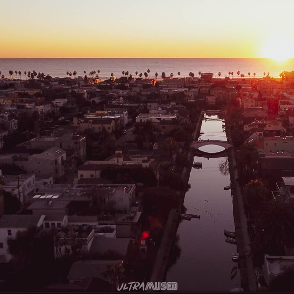 Sunset over the Venice Canals