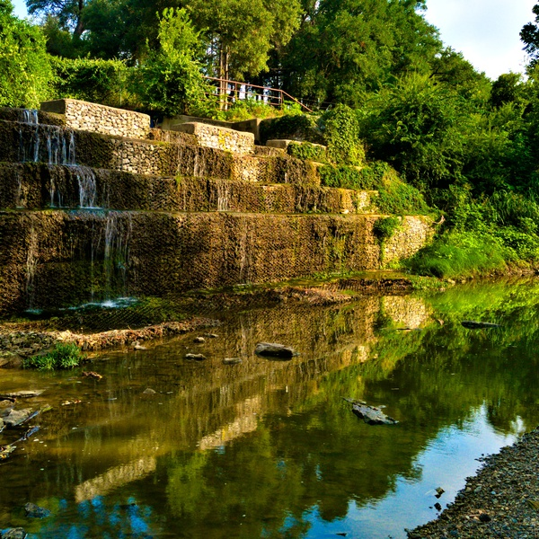 Stone Waterfall in Stephenville Texas
