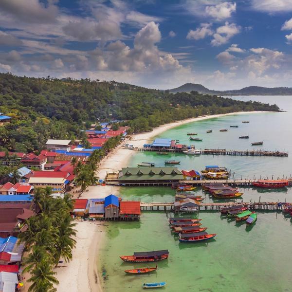Boating village in Cambodia