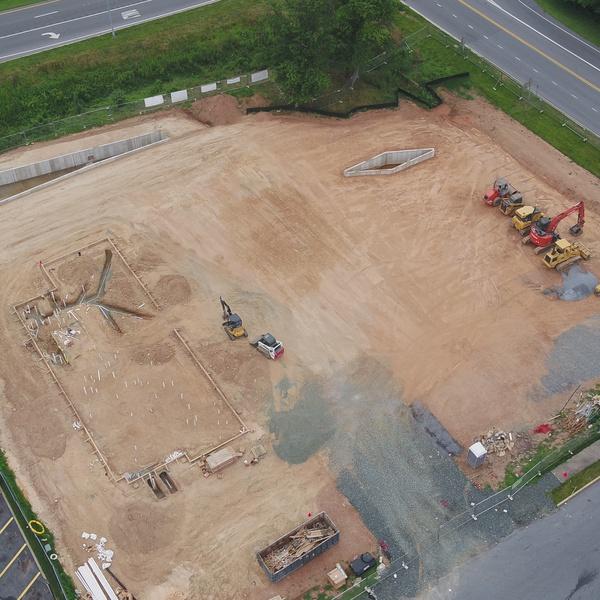 Construction Progression - Future Chic-fila