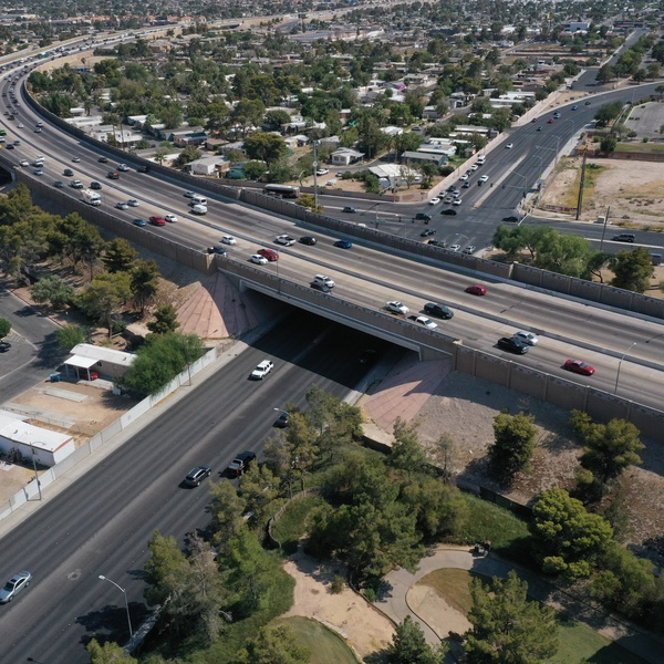 Engineering Aerial Photography of Freeway Overpass by Aces Up Media
