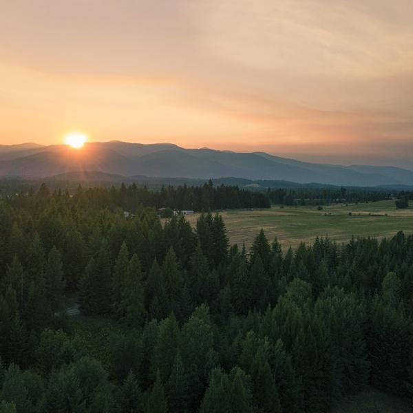 Sunset in Northern Idaho
