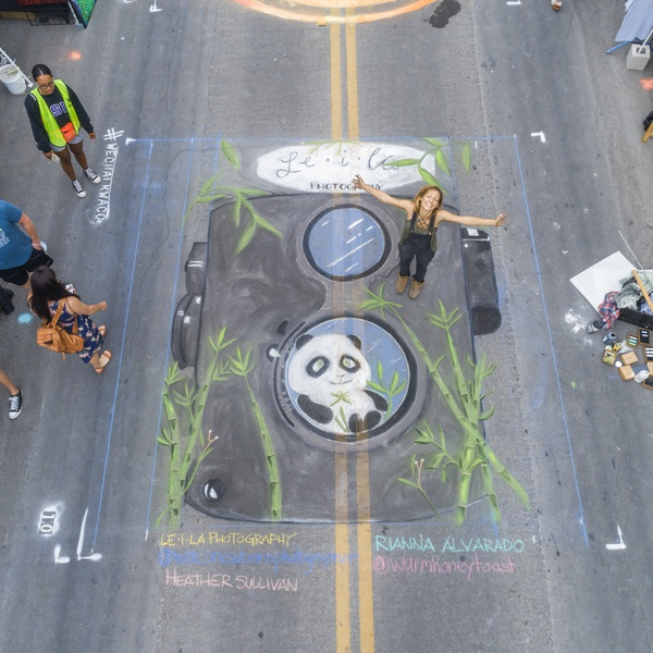 Finished chalk drawing at Chalk-Walk event