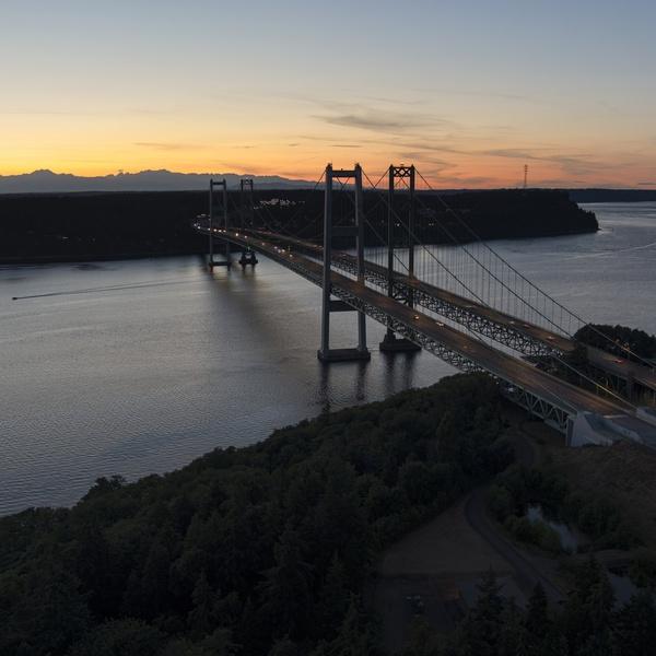 The Bridges facing NW