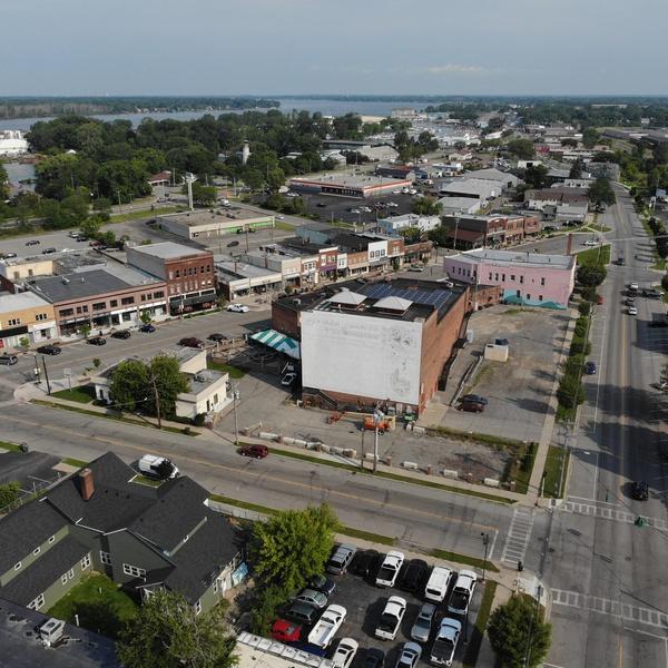 Aerial of Downtown North Tonawanda, NY