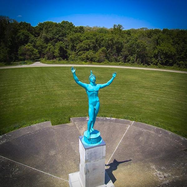 The Sun Singer, located at Allerton Park in Monticello, IL