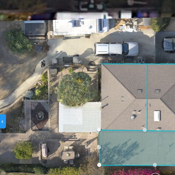 Roof Solar Survey using Drone Deploy to generate dimensionally-accurate 2D map