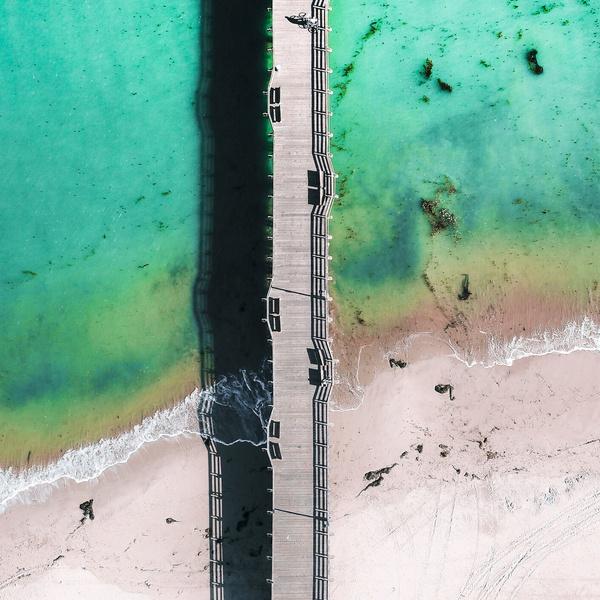 Santa Cruz bridge boardwalk beach
