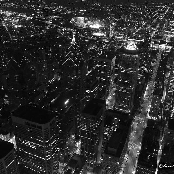 Philadelphia Center City Skyline At Night (East Side)