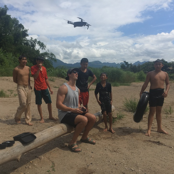 Drone Flight in Laos, South East Asia