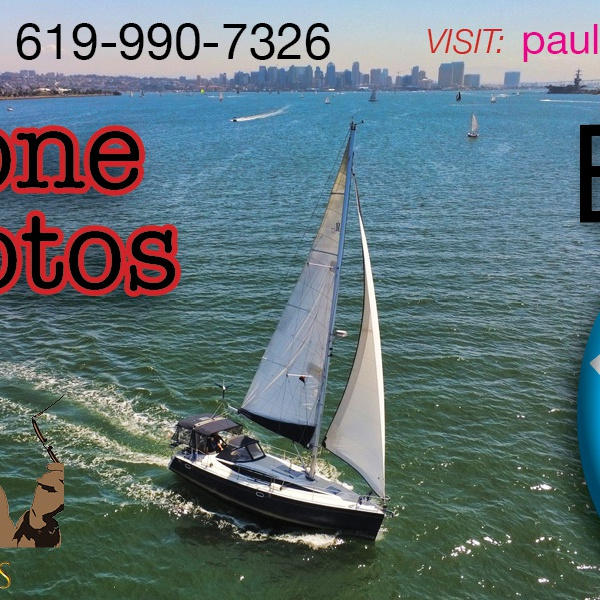 Business card (photo of client's sailboat made with Anafi)
