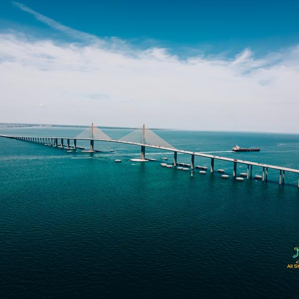 SkyWay Bridge at Tampa, FL