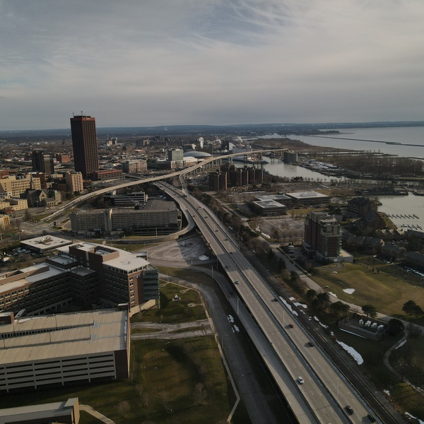 Buffalo Route 5 Skyway Lake Erie