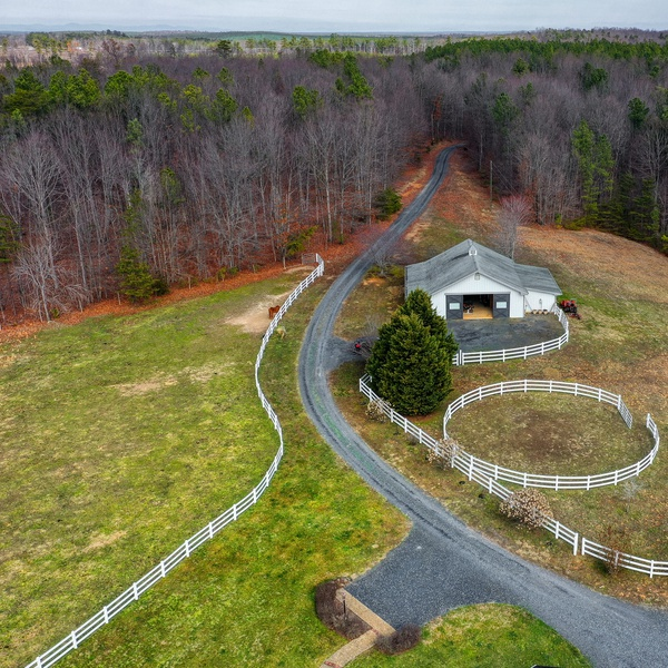 Barn and riding ring