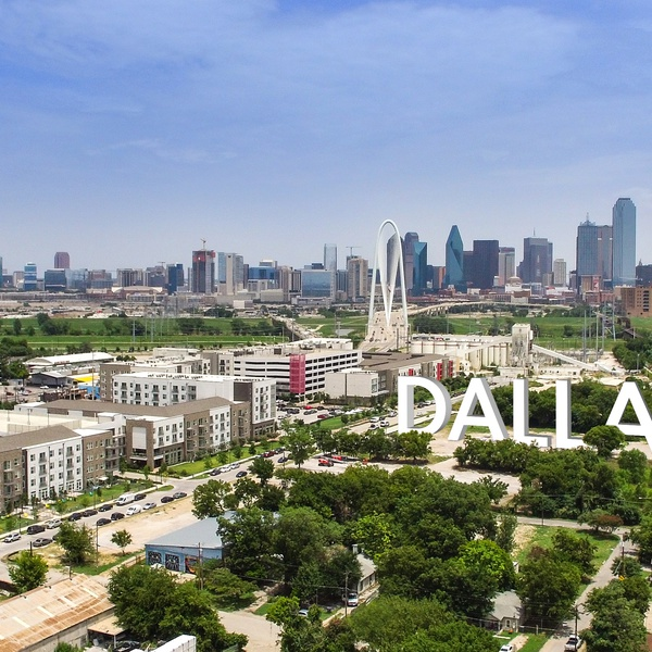 Dallas from above