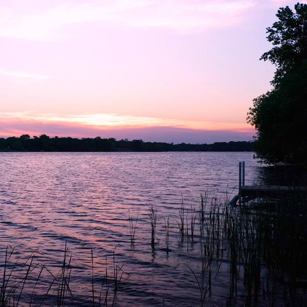Center Lake at Sunset