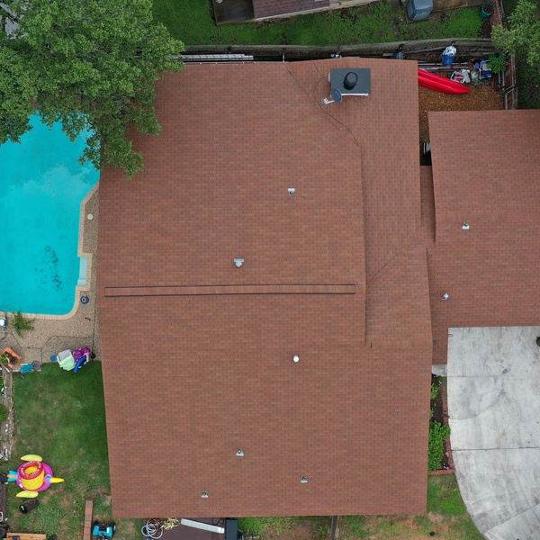 Roof Inspection from Directly Overhead
