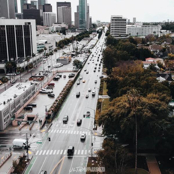 Santa Monica Boulevard after Rain