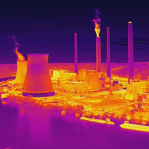 Thermal Image of John Amos Power Plant