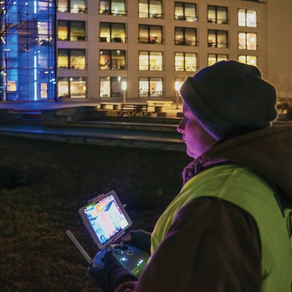Flying Thermal/IR Imaging at Night