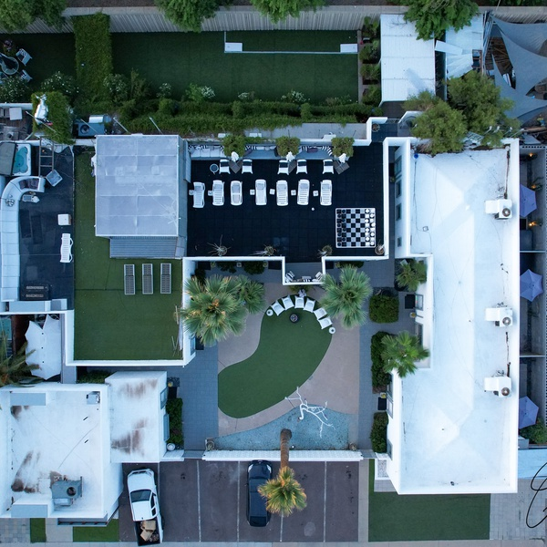 Rooftop hangout