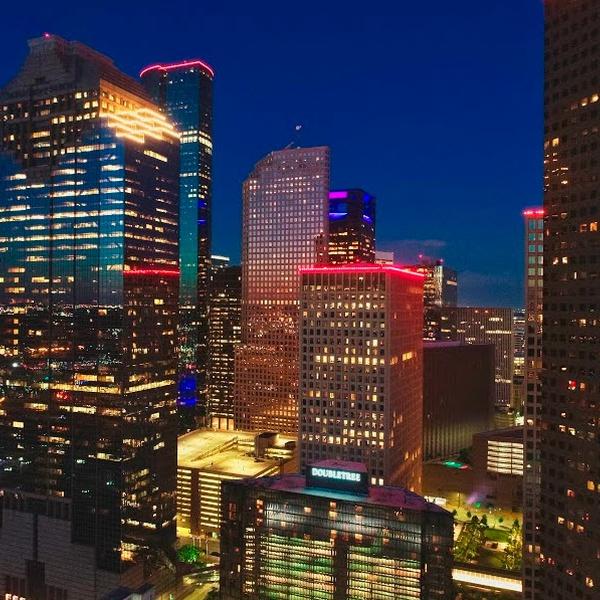Houston after sunset