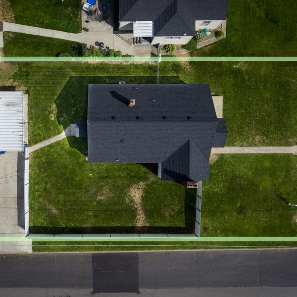 Real Estate Example of property lines