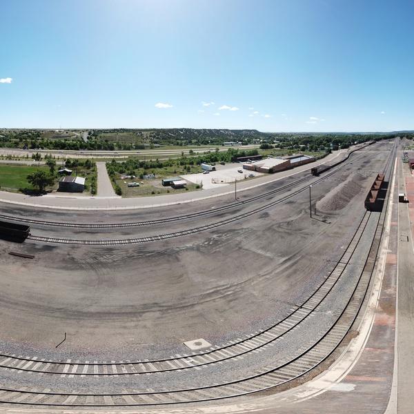 360° VR Aerial Panorama of The Castañeda Hotel, Las Vegas, New Mexico