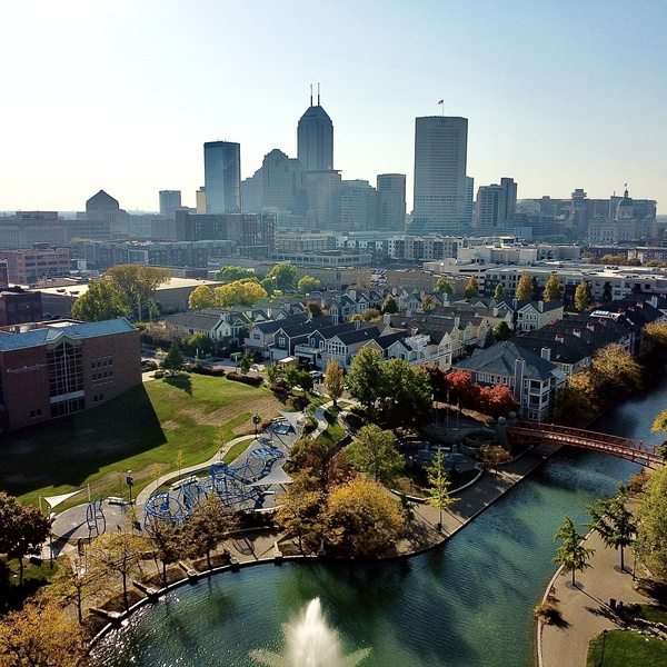 Early fall in downtown indy