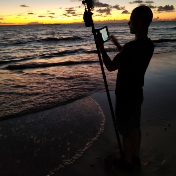 Benchmark at sea level - GNSS in the Caribbean - perks of the job!