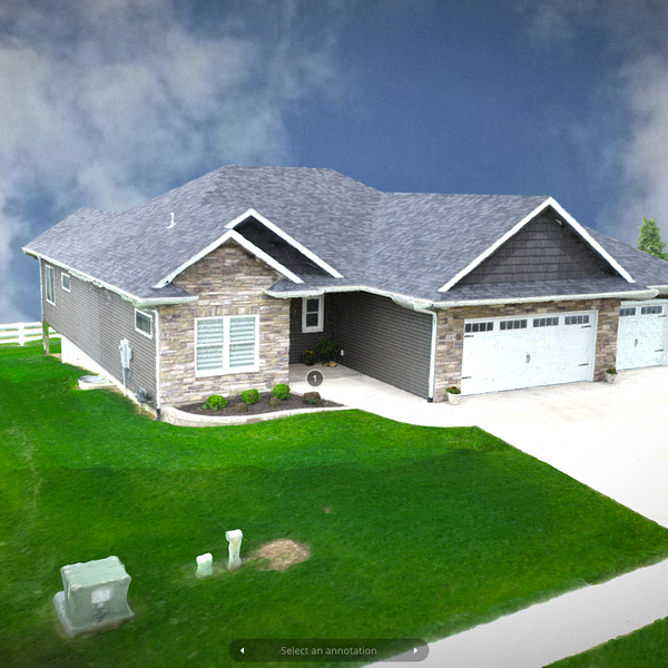 3D Model of a house - https://skfb.ly/6SQvC