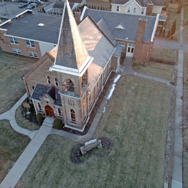 Aerial of Church for short