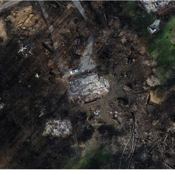 Wildfire Debris Mapping - High Resolution Ortho.