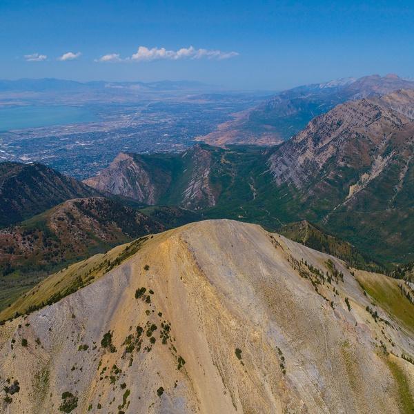 Provo Peak overlooking Utah Valley