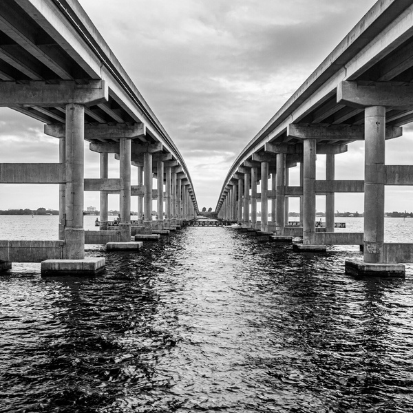 Under the bridge in Florida