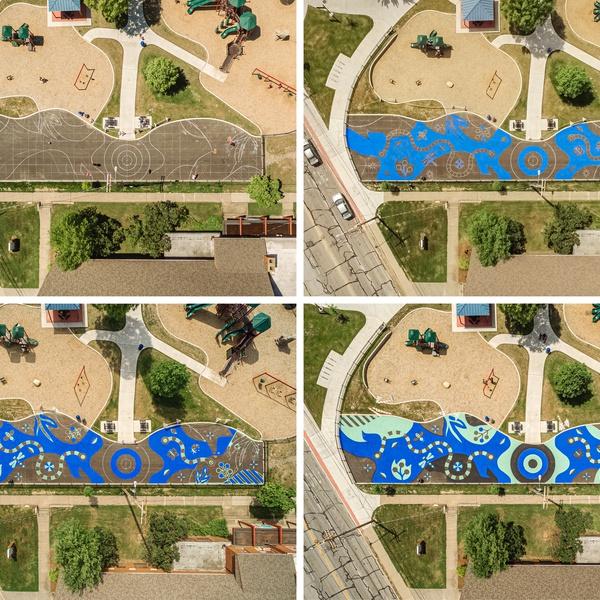 Wagar Park mural progression